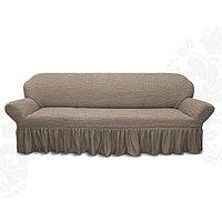 Чехол для мягкой мебели диван 3-х местный 6082, трикотаж, 100 п/э