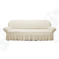 Чехол для мягкой мебели диван 3-х местный 6001, трикотаж, 100 п/э
