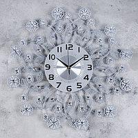 Часы настенные, серия Ажур, 'Листья и цветочки', плавный ход, 59 х 59 см