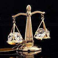 Сувенир 'Весы', 7x4x7 см, с кристаллами Сваровски