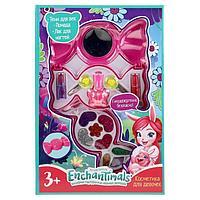 Косметика для девочек 'Энчантималс', тени для век, помада, лак для ногтей, заколки