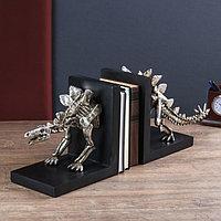 Держатели для книг 'Скелет динозавра' набор 2 шт серебро 24х58х15 см