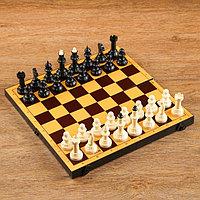 Шахматы 'Топ' (доска пластик 30х30 см, фигуры пластик, король h7,5 см)