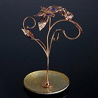Сувенир с кристаллами Swarovski 'Бабочка с тюльпанами' 23х15,6 см