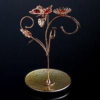 Сувенир с кристаллами Swarovski 'Бабочка с подсолнухом' 22х15,6 см