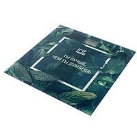 Весы напольные Irit IR-7267. электронные, до 180 кг, 2хААА, стекло, рисунок 'листья'