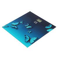 Весы напольные Irit IR-7264, электронные, до 180 кг, 2хААА, стекло, рисунок 'бабочки'