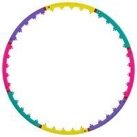 Обруч с малыми магнитными роликами, d98 см, толщина 2 см, 800 г, разноцветный