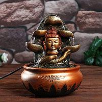 Фонтан настольный от сети, подсветка 'Будда и рука' МИКС 20х16х16 см