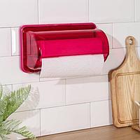 Держатель для бумажных полотенец на магнитах YAMADA, 29,7x13,9x17,8 см, цвет розовый
