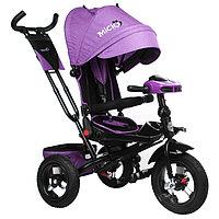 Велосипед трёхколёсный Micio Comfort Plus, надувные колёса 12'/10', цвет сиреневый