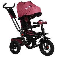 Велосипед трёхколёсный Micio Comfort Plus, надувные колёса 12'/10', цвет бордовый