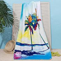 Полотенце пляжное Этель 'Закат', 75*140 см, микрофибра, 100 п/э