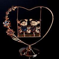 Сувенир с кристаллами Swarovski 'Мишки на качелях' 14,4 х13,4 см