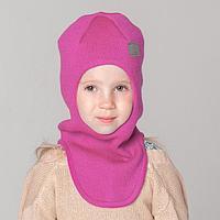 Шапка-шлем, цвет малиновый, размер 46-50