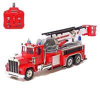 Машина радиоуправляемая 'Пожарная служба', управление лестницей с пульта, работает от аккумулятора