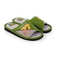 Тапочки мужские, цвет зелёный, размер 37