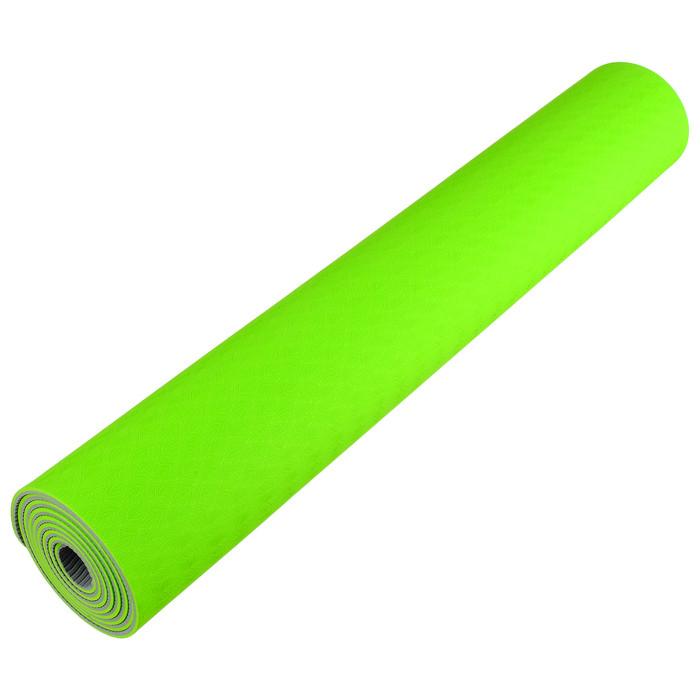 Коврик для йоги TORRES Comfort 4, TPE, 173 x 61 x 4 мм, нескользящее покрытие, цвет зелёный/серый - фото 2