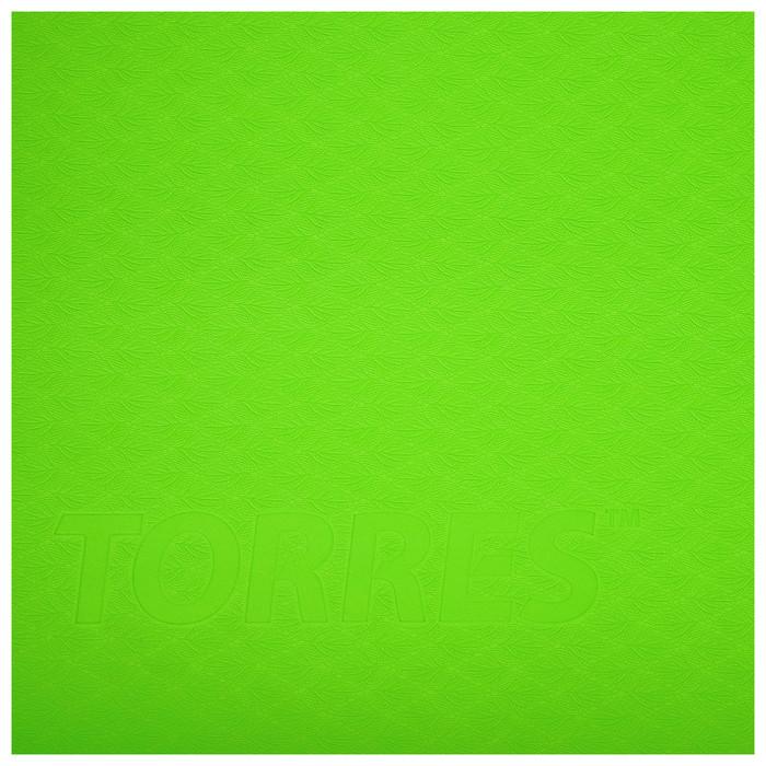 Коврик для йоги TORRES Comfort 4, TPE, 173 x 61 x 4 мм, нескользящее покрытие, цвет зелёный/серый - фото 4
