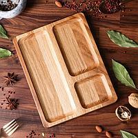 Блюдо-доска для подачи и нарезки 'Паб', 25 х 20 см, массив дуба
