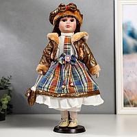 Кукла коллекционная 'Цветана в коричневом' 40 см