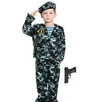 Карнавальный костюм 'Спецназ-2 с пистолетом', детский, р. 32-34, рост 128-134 см
