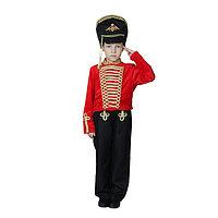 Карнавальный костюм 'Гусар', китель, кивер, штаны, р. 30, рост 110-116 см