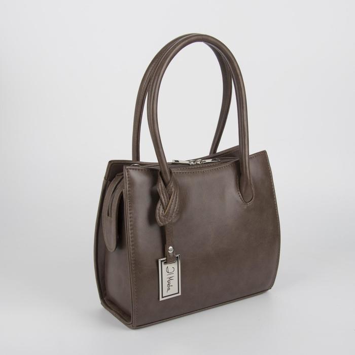 Сумка женская, отдел на молнии, наружный карман, длинный ремень, цвет светло-коричневый - фото 1