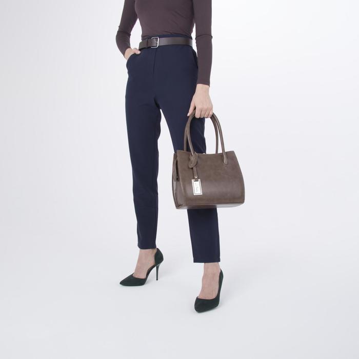 Сумка женская, отдел на молнии, наружный карман, длинный ремень, цвет светло-коричневый - фото 4
