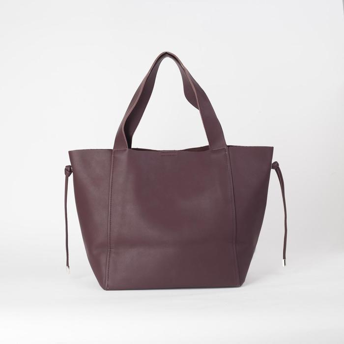 Сумка-шопер, отдел на молнии, наружный карман, цвет коричневый - фото 2