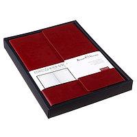 Ежедневник недатированный А5, 136 листов, Waltz, иск. кожа, магнитный клапан, бордовый, в подарочной упаковке