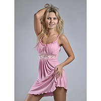 Сорочка женская 'Ассоль', цвет светло-розовый микс, размер 44