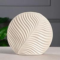 Ваза настольная 'Пальма', белая, керамика, 28*31 см