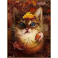 Алмазная мозаика 'В осенних листьях', 29 цветов