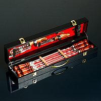 Шашлычный набор 'Горный дух' кейс, шампуры, два ножа