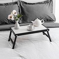 Столик для завтрака 'Ренессанс', 50 х 30 см, массив ясеня, цвет черный