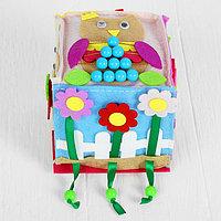 Мягкий бизикубик 'Весело играем' текстильный, 10x10 см