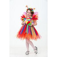 Карнавальный костюм 'Бабочка радужная', сделай сам, корсет, ленты, брошки, аксессуары