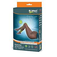 Колготки компрессионные для беременных прозрачные B.Well JW-316, 1 класс, размер 5, цвет Natural