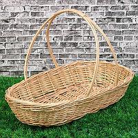 Корзина 'Продуктовая', дно19х39, Dверх 44x26 см, H7/31 см, ручное плетение, лоза