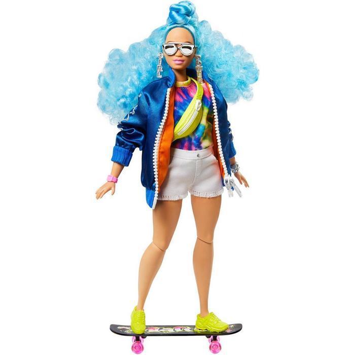 Кукла Барби 'Экстра' с голубыми волосами - фото 3