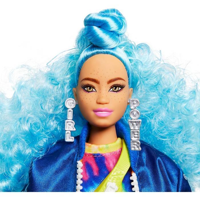 Кукла Барби 'Экстра' с голубыми волосами - фото 5
