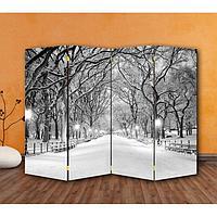 Ширма 'Зимний парк', 200 x 160 см
