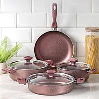 Набор посуды Papilla Fred 4 предмета кастрюля, 2,4 л, 4,2 л сотейник, 3 л, d26 сковорода d26 см