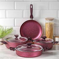 Набор посуды Papilla Fred, 4 предмета кастрюля, 2,4 л, 4,2 л сотейник, 3 л, d26 сковорода d26 см