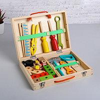 Развивающая игра 'Набор плотника + конструктор в чемоданчике' 7x30x23 см, 33 элемента