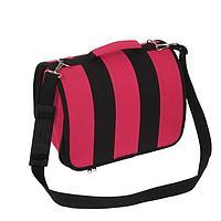 Сумка-переноска каркасная, складная, розово-черная, 46 х 28,5 х 29 см