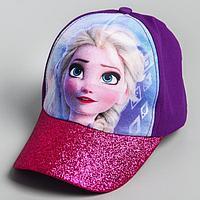Кепка детская 'Холодное сердце' фиолетовая, р-р 52-56