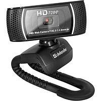 Веб-камера Defender G-lens 2597, 2 МП, 1280 х 720, HD720p, черная
