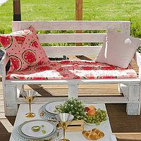 Подушка на трехместную скамейку 'Этель' Арбузы, 45x150 см, репс с пропиткой ВМГО, 100 хлопок
